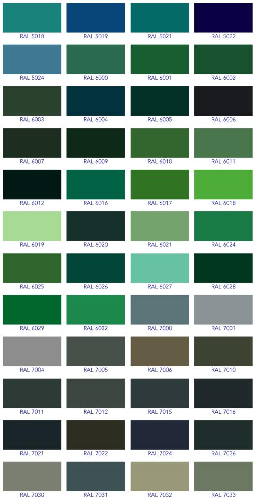 Ral Colour Chart 2